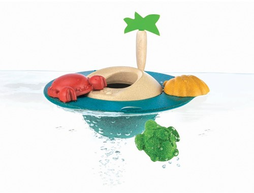 Plan Toys  Holz Badespielzeug Schwimmende Insel  5713-2