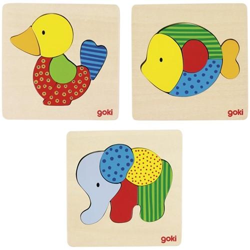 Goki Puzzle elephant, fish or duck