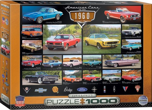 Eurographics puzzle American Cars of the 1960s - 1000 Teile