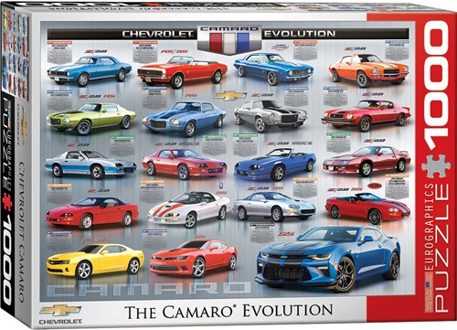 Eurographics puzzle Chevrolet The Camaro Evolution - 1000 Teile