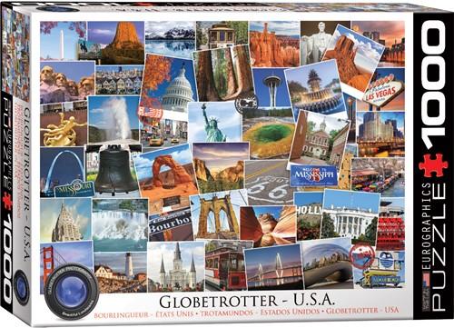 Eurographics puzzle Globetrotter USA - 1000 Teile