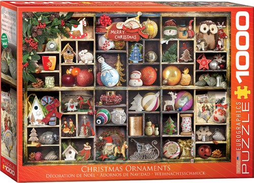 Eurographics puzzle Weihnachtsschmuck - 1000 Teile