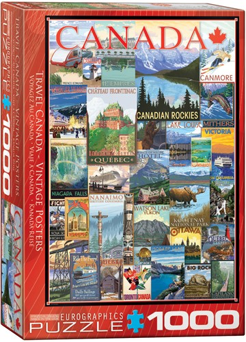 Eurographics puzzle Travel Canada Vintage Posters - 1000 Teile