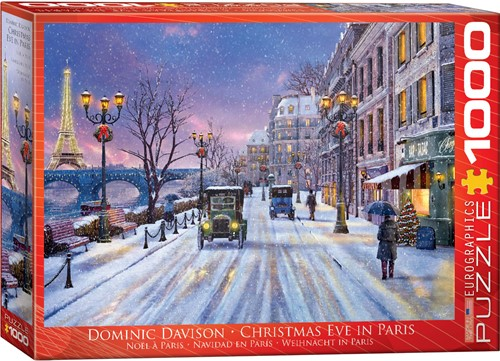 Eurographics puzzle Dominic Davison: Weihnachten in Paris - 1000 Teile