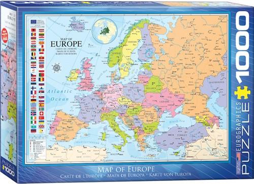 Eurographics puzzle Karte von Europa - 1000 Teile