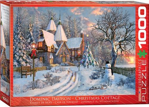 Eurographics puzzle Dominic Davison: Landhaus zu Weihnachten - 1000 Teile