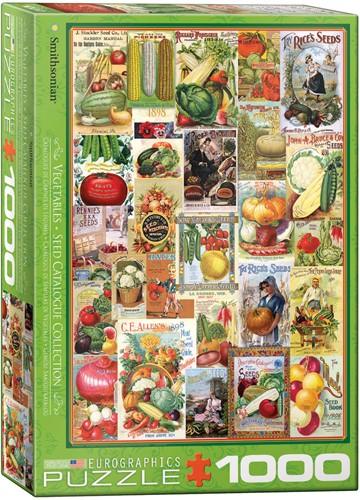 Eurographics puzzle Gemüse Samen Katalog - 1000 Teile