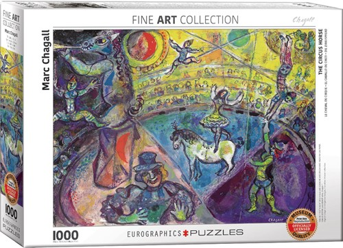 Eurographics puzzle Marc Chagall - The Circus Horse - 1000 Teile