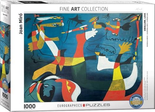 Eurographics puzzle Joan Miro - Hirondelle Amour - 1000 Teile