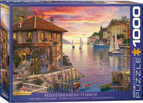 Eurographics puzzle Dominic Davison - Mediterranean Harbor - 1000 Teile