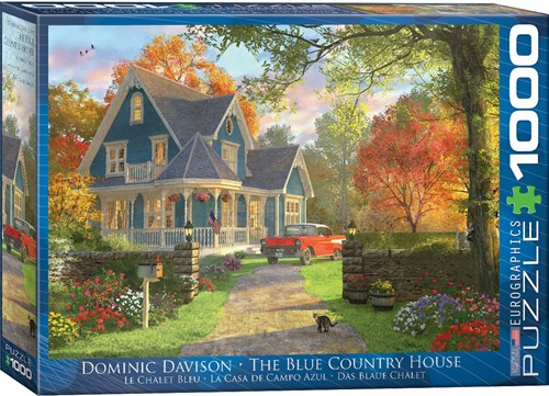 Eurographics puzzle Dominic Davison - The Blue Country House - 1000 Teile