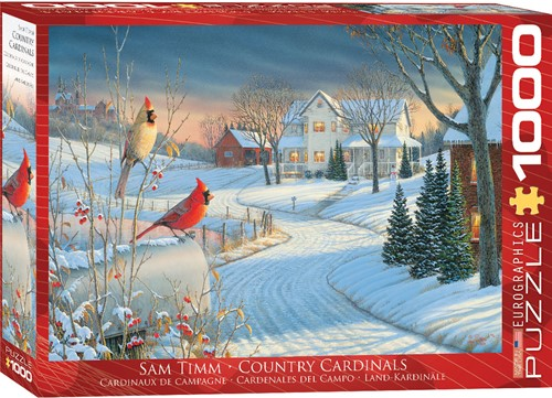 Eurographics Puzzle Country Cardinals - Sam Timm - 1000 Teile