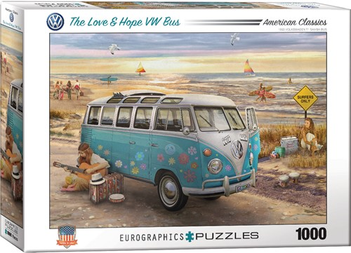 Eurographics puzzle The Love & Hope VW Bus - 1000 Teile