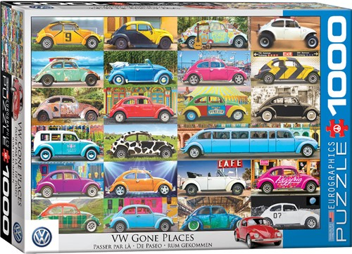 Eurographics puzzle VW Beetle - Gone Places - 1000 Teile