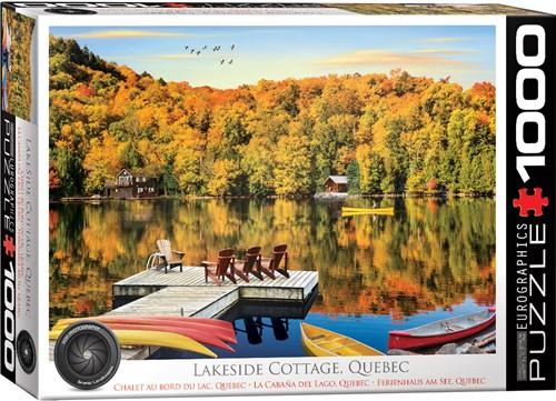 Eurographics puzzle Lakeside Cottage Quebec - 1000 Teile