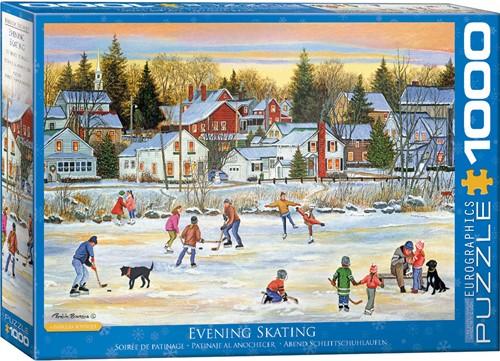Eurographics puzzle Evening Skating - 1000 Teile