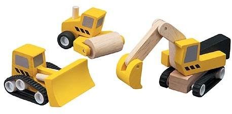 Plan Toys  Plan City Holz Spielstadt 6014 Baustellen Set