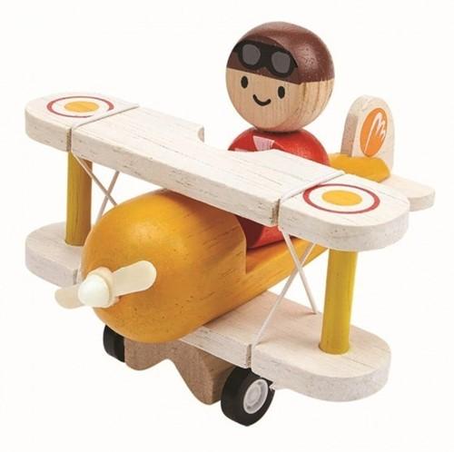 Plan Toys  Holz Spielfahrzeug Klassisches Flugzeug