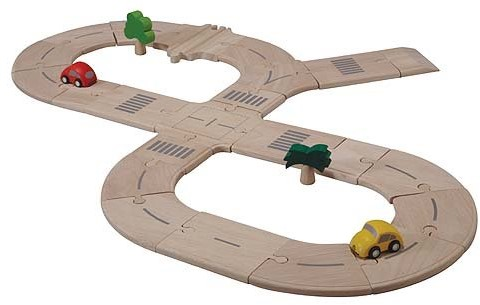 Plan Toys  Plan City Holz Spielstadt 6077 Straßenset Standard