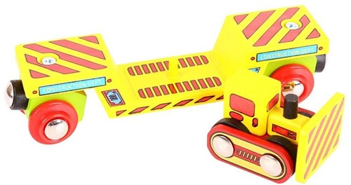 BigJigs Bulldozer Tieflader (4)