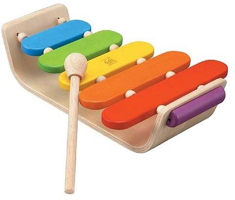 Plan Toys  Holz Musikinstrument Ovales Xylofon
