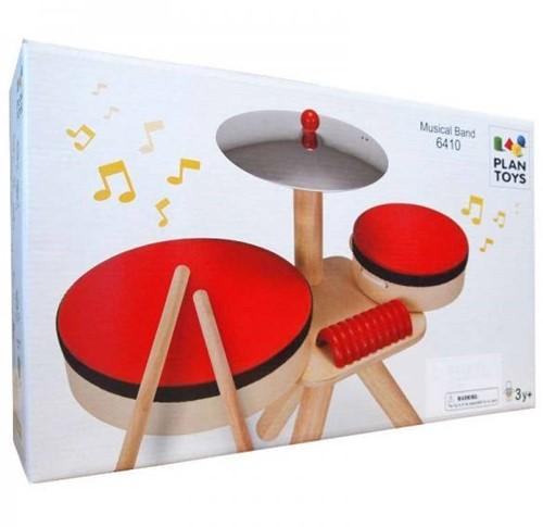 Plan Toys  Holz Musikinstrument Schlagzeug 6410 -2