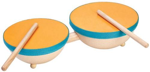 Plan Toys  Holz Musikinstrument Doppeltrommel