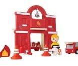 Plan Toys Plan City houten gebouw Brandweerkazerne