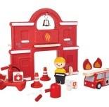 Plan Toys Plan City houten gebouw Brandweerkazerne-3