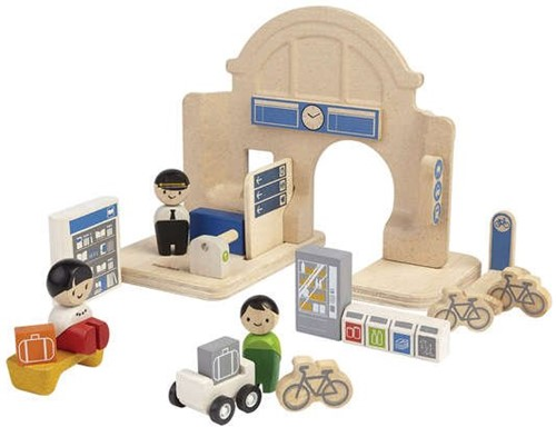Plan Toys Plan City houten gebouw Station-2