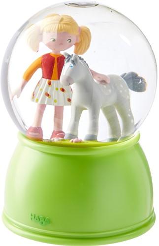 Haba LED-Schlummerlicht-Schneekugel Pferdeglück