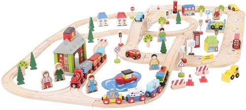 Bigjigs City Road and Railway Set