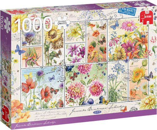 Premium Collection Flower Stamps Summer 1000 Teile