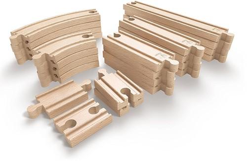 Hape Holz Eisenbahn Erweitertes Schienenausbauset