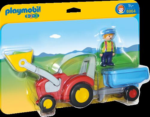 Playmobil 1.2.3 Traktor mit Anhänger