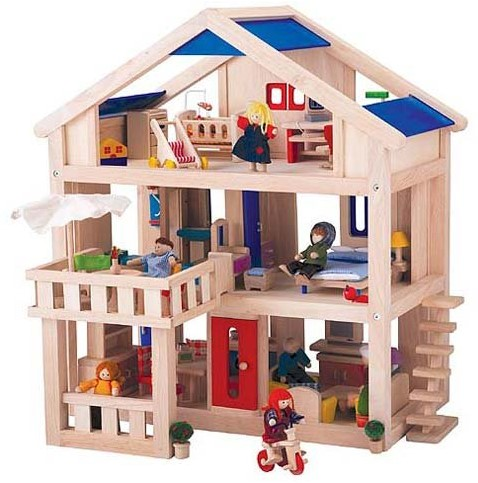 Plan Toys  Holz Puppenhaus mit Terrasse 7150