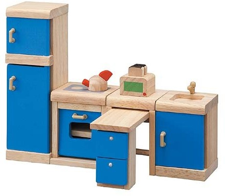 Plan Toys  Holz Puppenhaus Möbel Küche - Neo