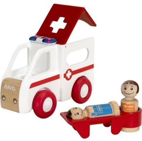 Brio Spielfahrzeug My Home Town - Krankenwagen mit Licht und Sound 30381