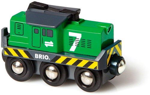Brio Holz Eisenbahn Batterie-Frachtlok 33214