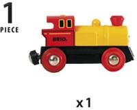 Brio Holz Eisenbahn Batterielok Gelb 33594-3