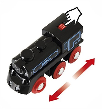 Brio Holz Eisenbahn Schwarze Akku-Lok mit Mini-USB 33599-2