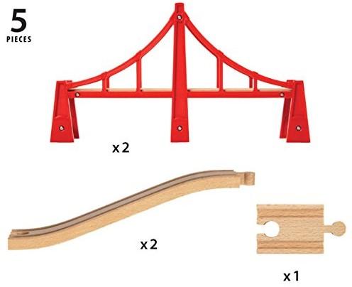 Brio Holz Eisenbahn Zubehör Hängebrücke 33683-3