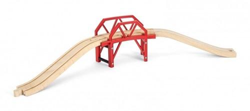 Brio Holz Eisenbahn Zubehör Bahnbrücke mit Auffahrten 33699