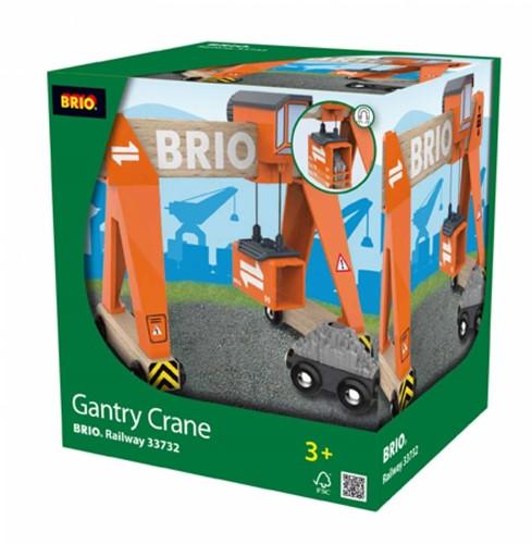 Brio Holz Eisenbahn Zubehör Container-Verladekran 33732-2