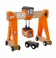 Brio Holz Eisenbahn Zubehör Container-Verladekran 33732