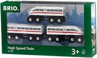 Brio Holz Eisenbahn Schnellzug mit Sound, 3teilig 33748-2