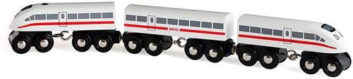 Brio Holz Eisenbahn Schnellzug mit Sound, 3teilig 33748