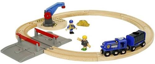 Brio Holz Eisenbahn Set BRIO Polizei Goldtransport-Set 33812