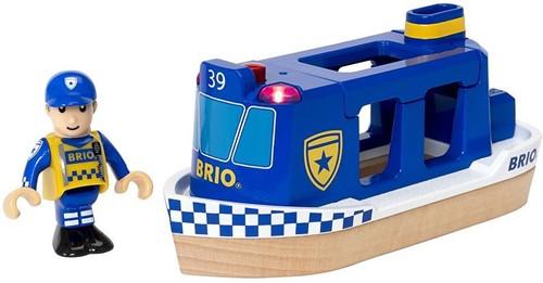 Brio Holz Eisenbahn Zubehör Polizeiboot mit Licht und Sound 33820