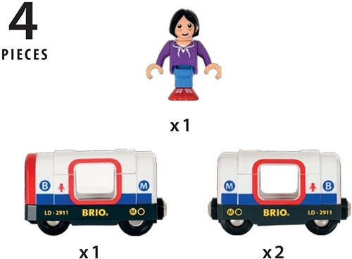 Brio Holz Eisenbahn Zubehör U-Bahn mit Licht und Sound 33867-2
